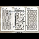 MTHS013 Stampers Anonymous Tim Holtz Layering Stencil - Mini Stencil Set #13